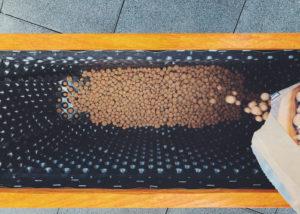 Blumenkasten Drainage Granulat