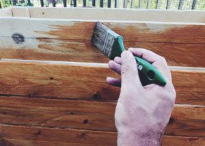 Blumenkasten Holz Lasur auftragen